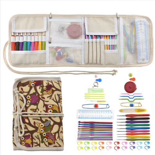 Crochet Hook & Accessories Set with Case